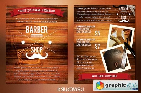 Barber Shop 2 Sided Flyer 44374