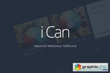 iCan - Personal Website PSD Template 44971
