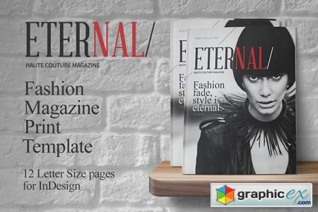 Fashion Magazine Print Template 45022