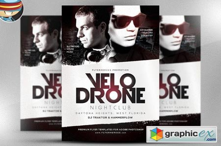 Velo Drone PSD Flyer Template 29533