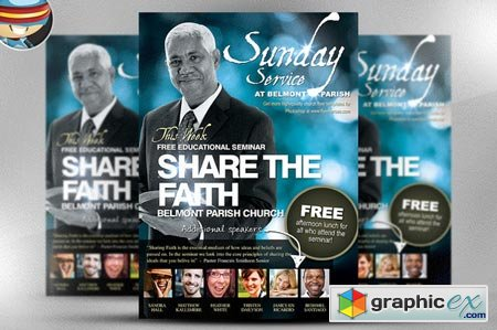 Share the Faith Church PSD Flyer 29536