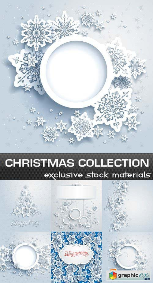 Christmas Collection with Snowflakes 25xEPS
