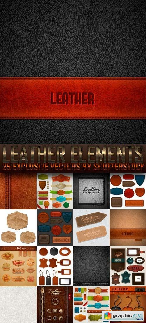 Leather Elements 25xEPS