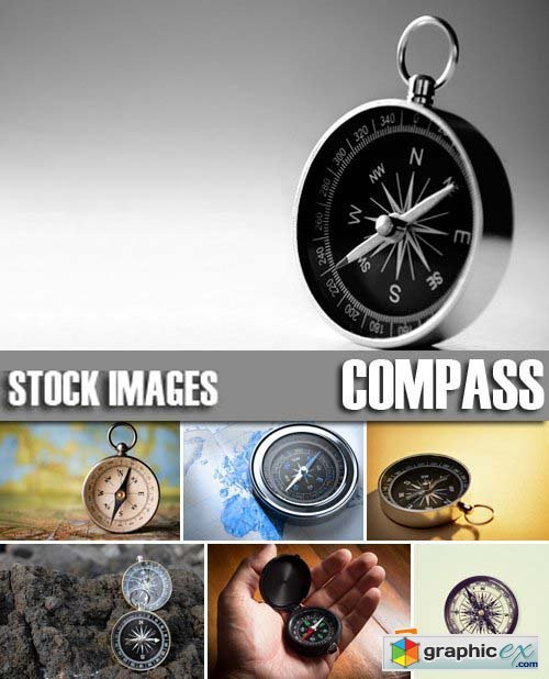 Stock Photos - Compass, 25xJPG