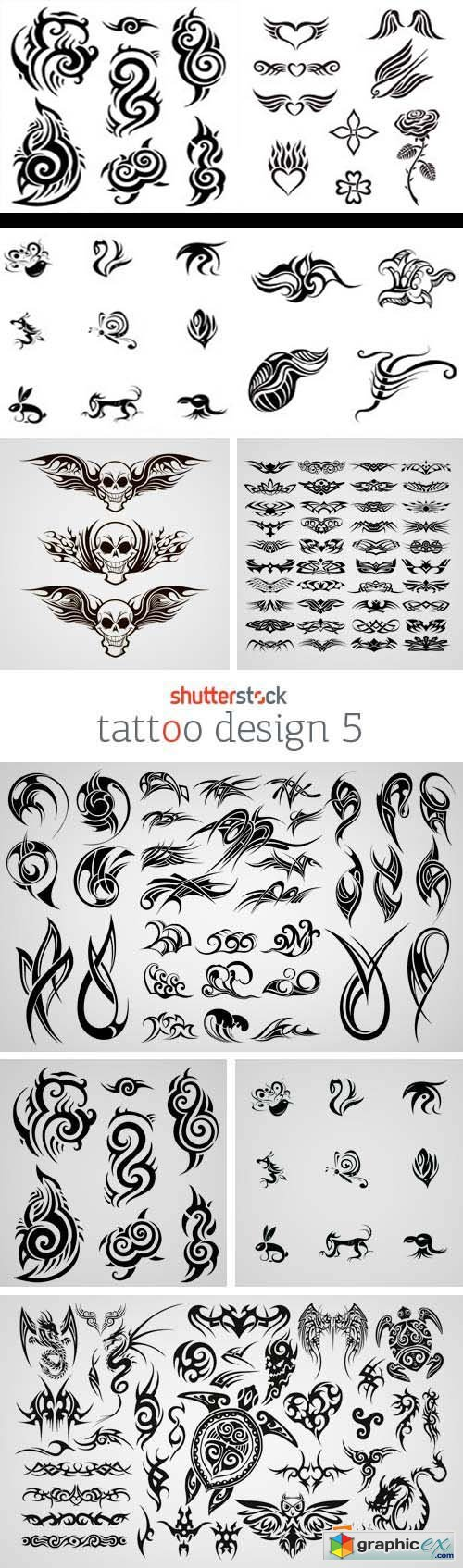 Amazing SS - Tattoo Design 5, 25xEPS
