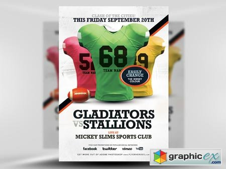 FlyerHeroes American Football Flyer Template 4