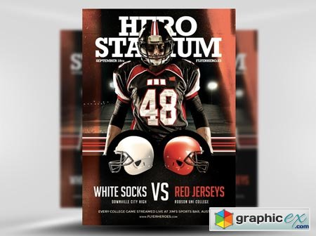 FlyerHeroes American Football Flyer Template 2