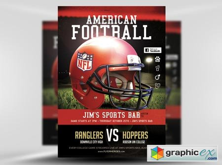 FlyerHeroes American Football Flyer Template