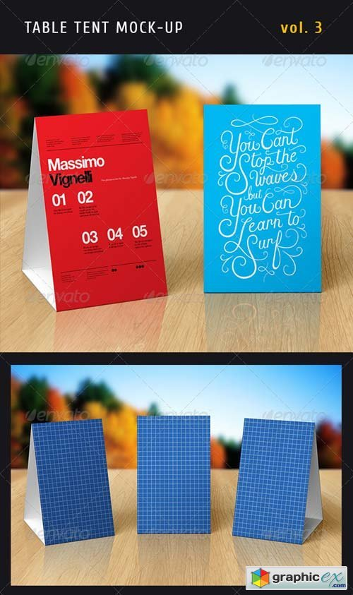 Paper Table Tent Mock-up Template Vol.3 : table tent psd - memphite.com