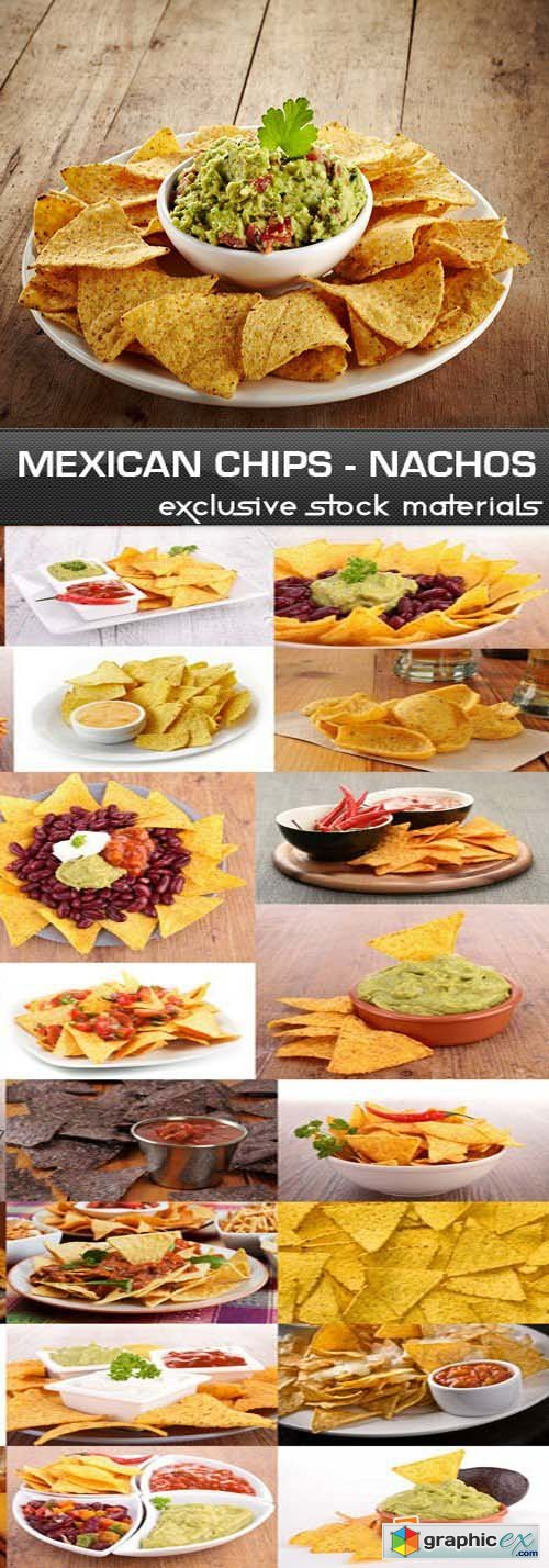 Nachos - Mexican Chips, 25xUHQ JPEG