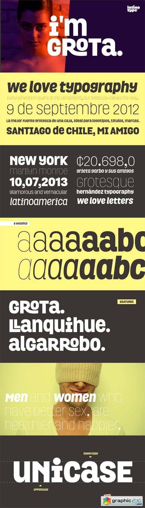 Grota Font Family - 12 Fonts for $126
