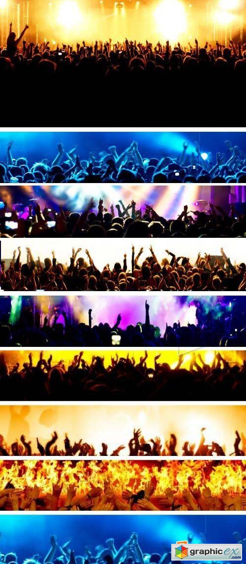Consert & Crowd Backgrounds 25xJPG