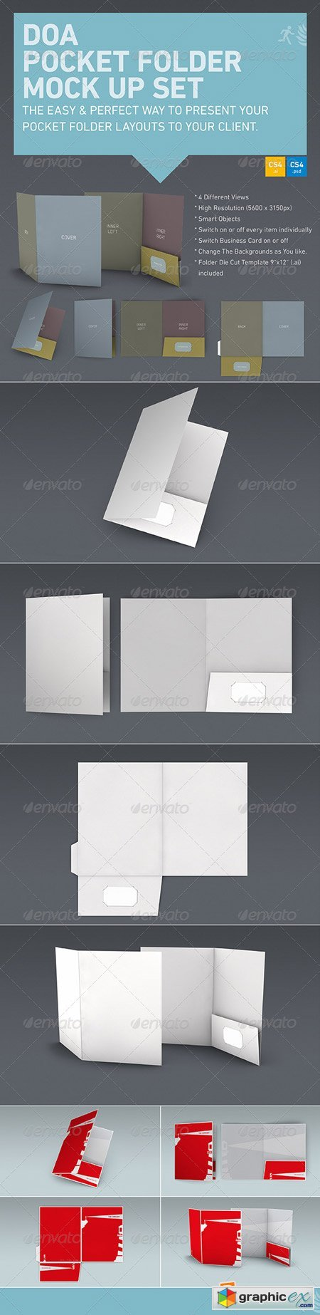 DOA Pocket Folder Mock Up Set 5256496
