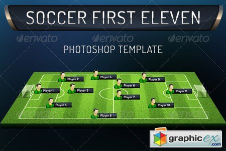 First Eleven Soccer Photoshop Template 5255768
