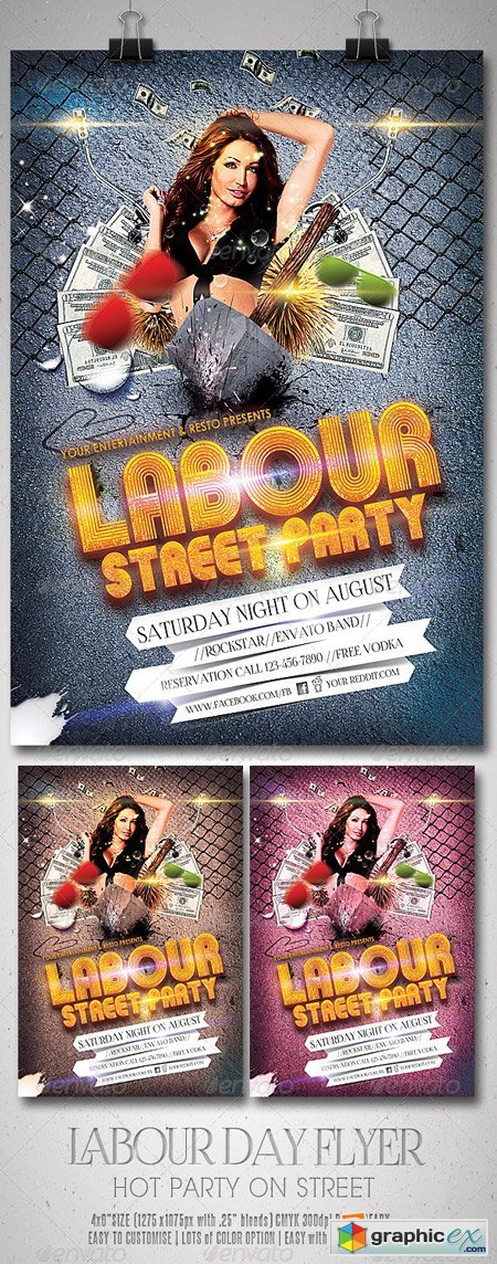 Labour Day Party Flyer 5382286