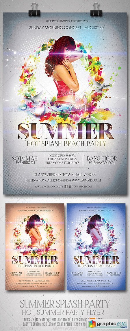 Summer Splash Party Flyer 5372762