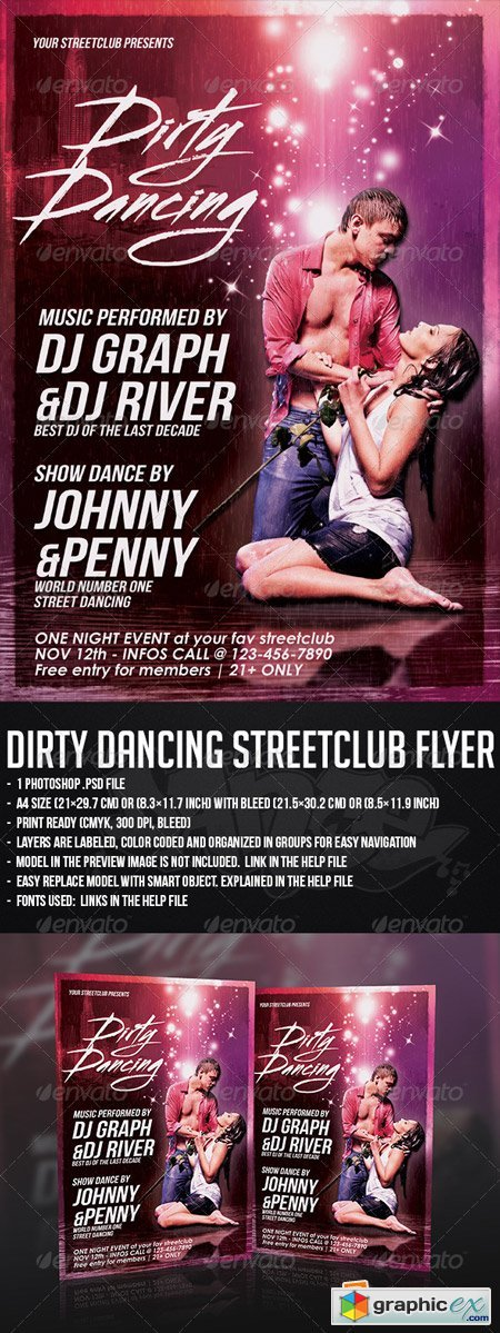 Dirty Dancing Streetclub Flyer Template 5359247