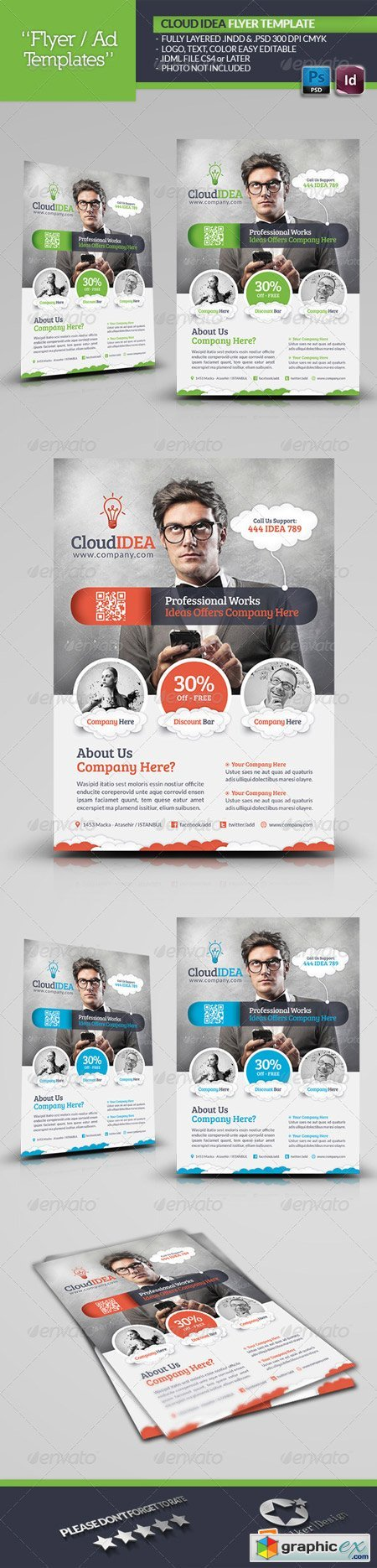 Cloud Idea Flyer Template 5383924