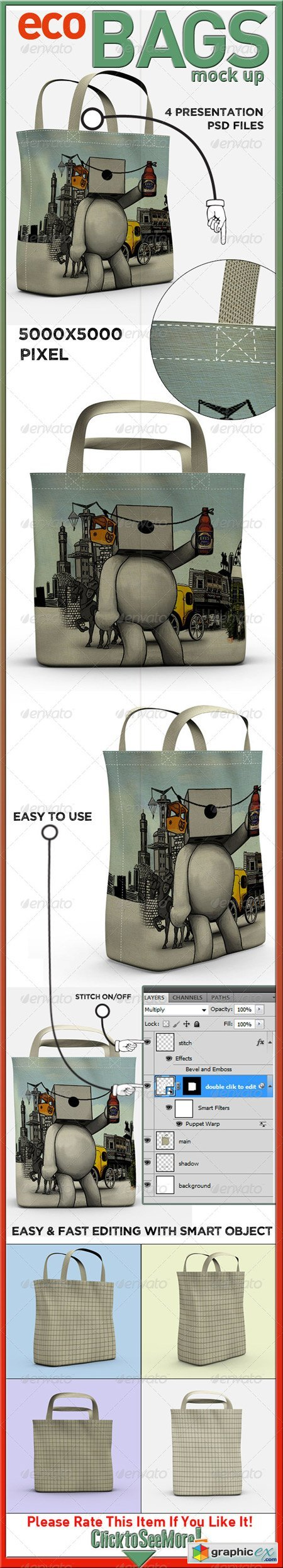 Eco Bags Mock Up 5306832