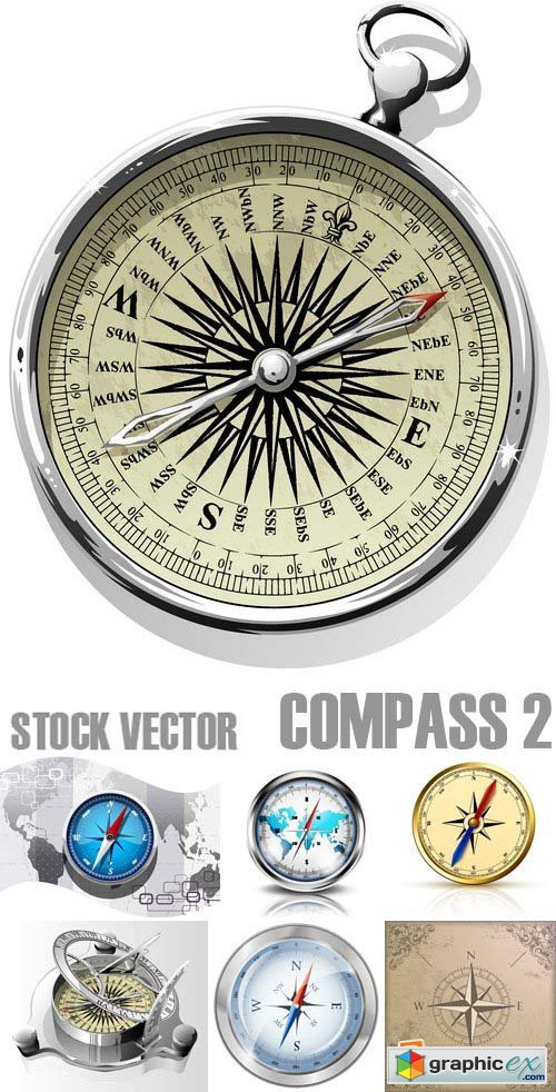 Stock Vectors - Compass 2, 25xEPS