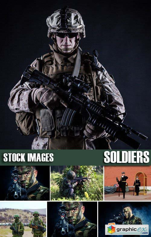 Stock Photos - Soldiers, 25xJPG