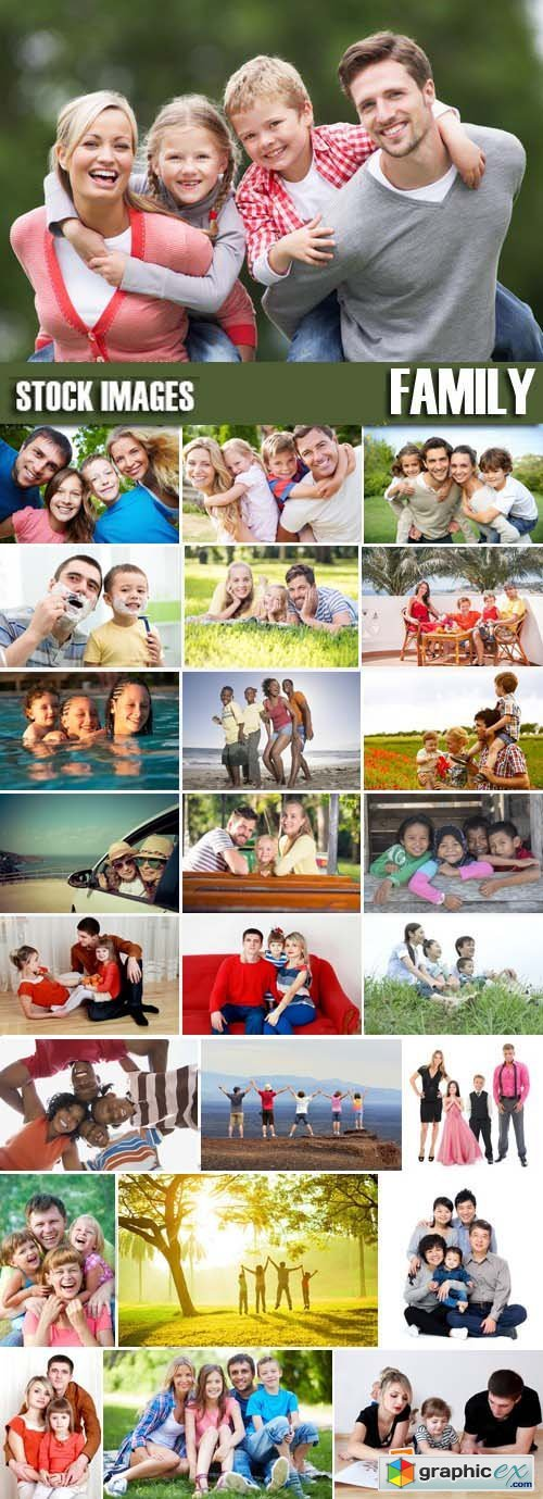 Stock Photos - Family, 25xJPG