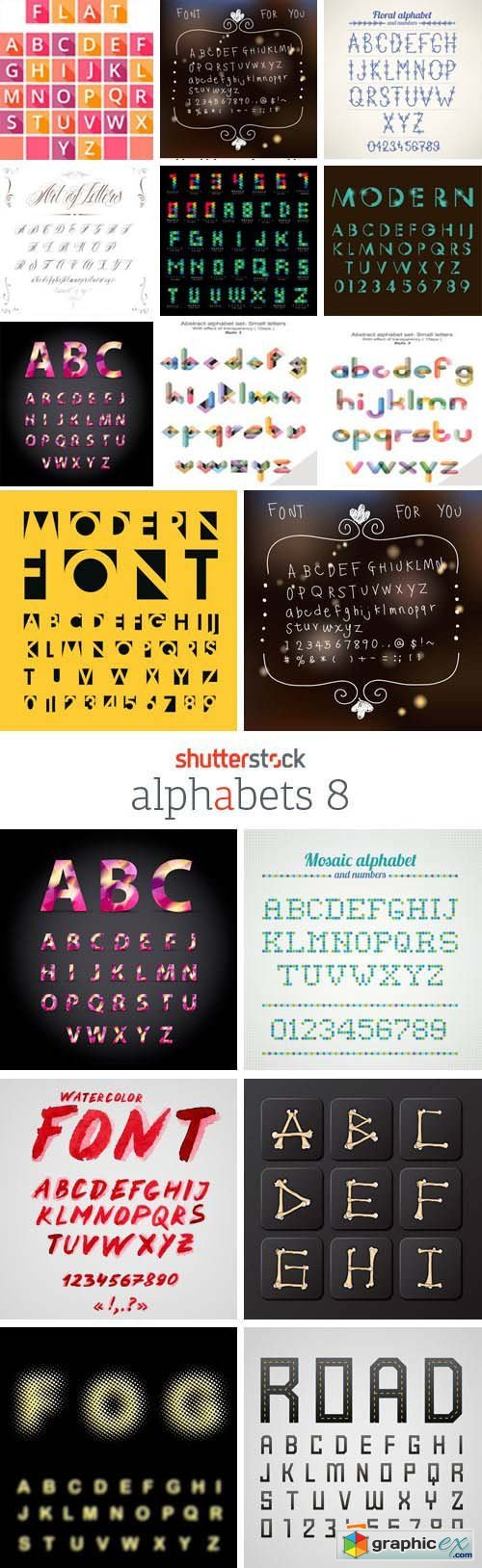 Amazing SS - Alphabets 8, 25xEPS