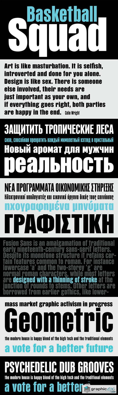 PF Fusion Sans Pro Font Family - 4 Fonts for $275