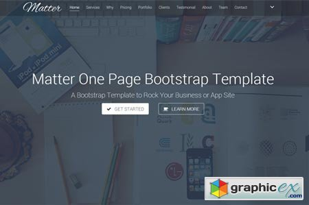 Matter - OnePage Business Template 44968