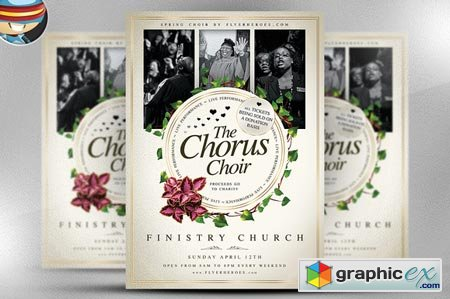 Chorus Choir PSD Flyer Template 29532