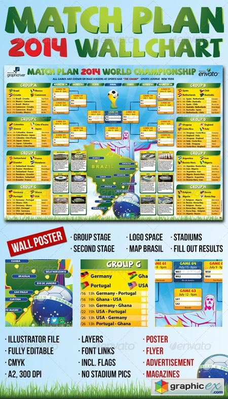 Matchplan 2014 Wallchart 6466349