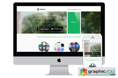AppName - App Website HTML Template 13756