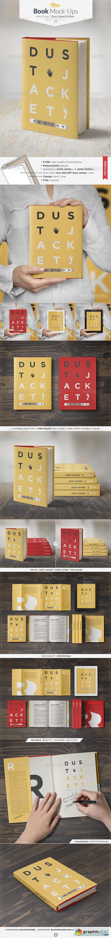 Book Mock-Up Dust Jacket Edition 7735188