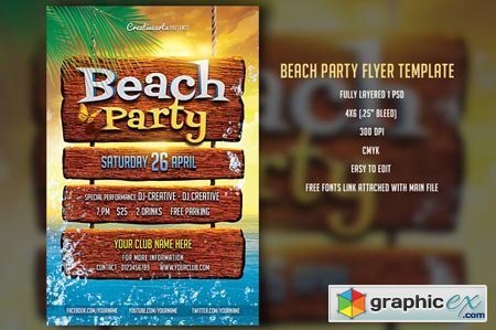 Beach Party Fyler 31250