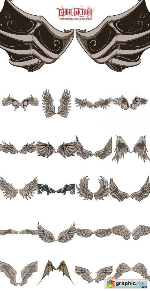 Wings Collection [Tshirt-Factory] 42xEPS