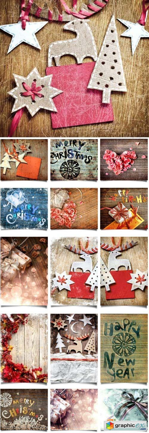 Vintage Christmas Backgrounds 50xJPG