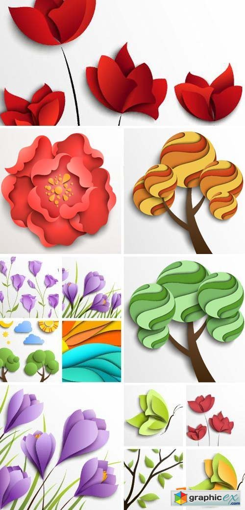 Floral Paper Backgrounds 25xEPS