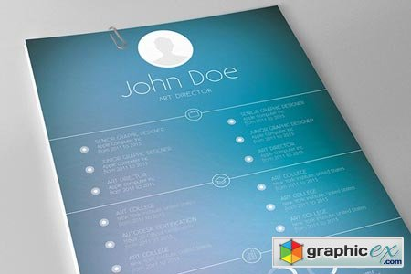 Modern 2-Piece Resume Template 27324