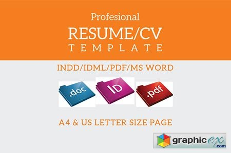 InDesign Resume Template 23139