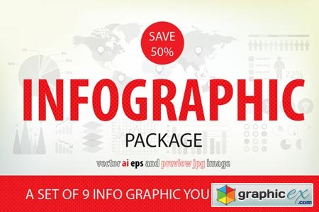 A SET OF 9 INFO GRAPHIC - SAVE 50% 42211