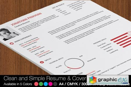 2-Piece Clean Simple Resume Set 25783