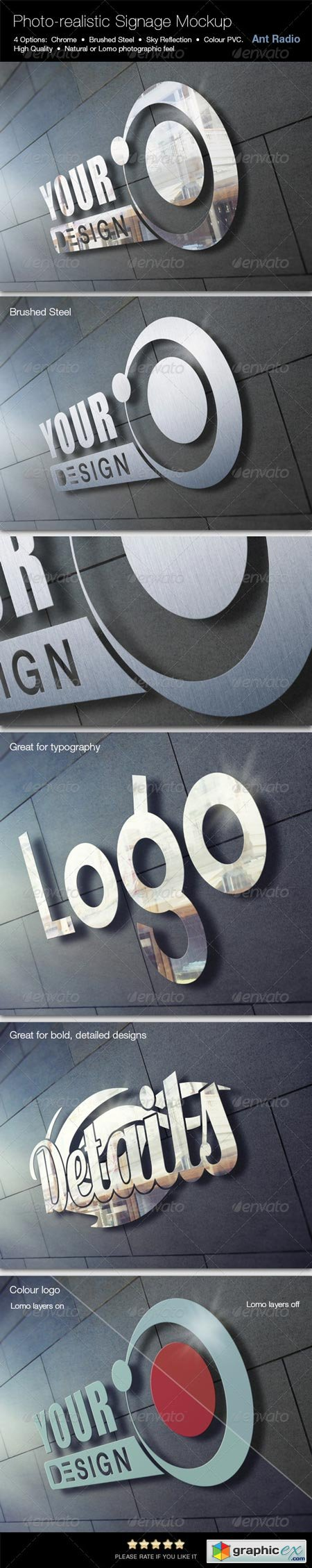 Photorealistic Metal Signage Mock-up 7783448