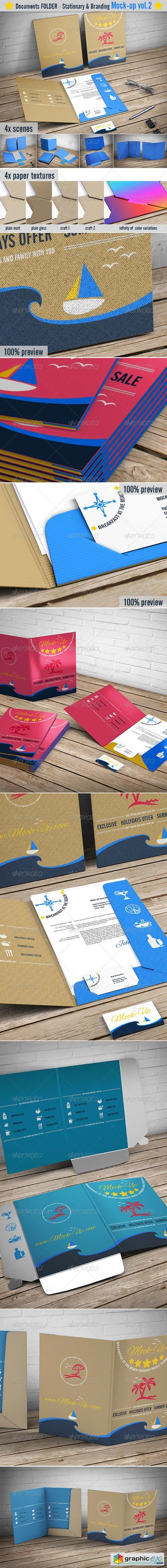 File Folder Mockup Document Folder Mock-Up 7763802