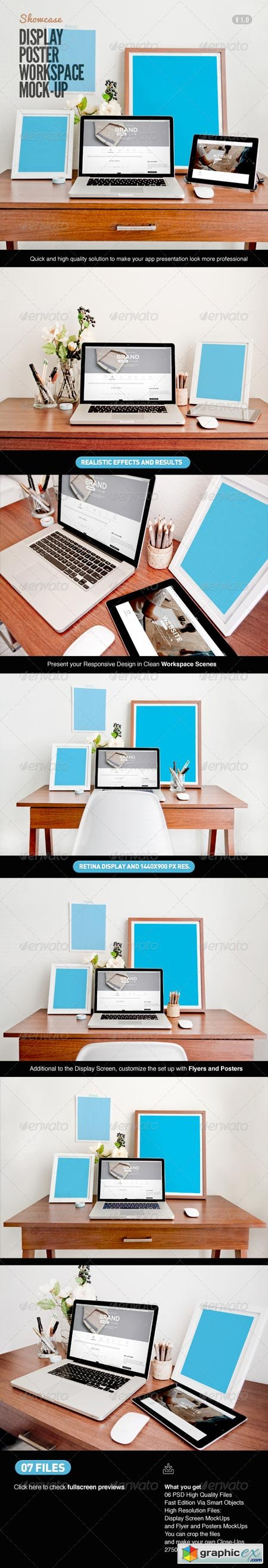 Display Poster Workspace Mock-Up 7766138