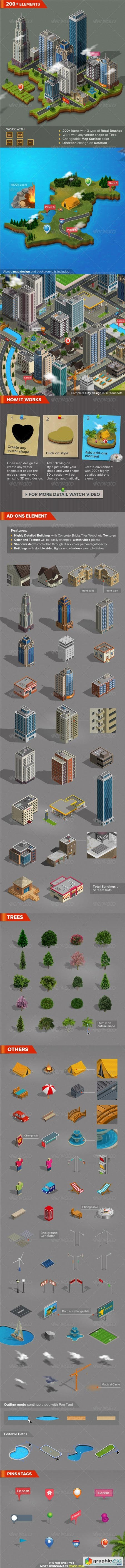 3D City and Map Generator 7688347