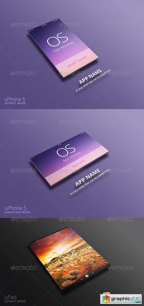 App Mockup for uPhone & uPad
