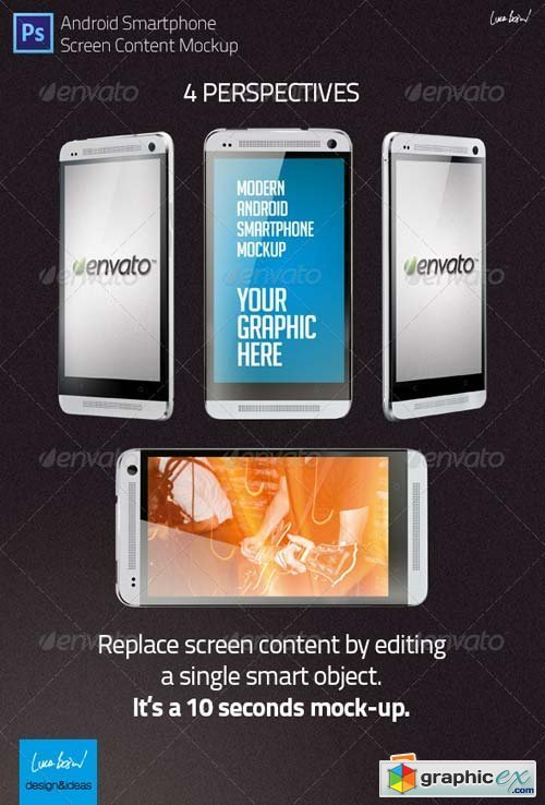 Mock-up: Modern Android Smartphone