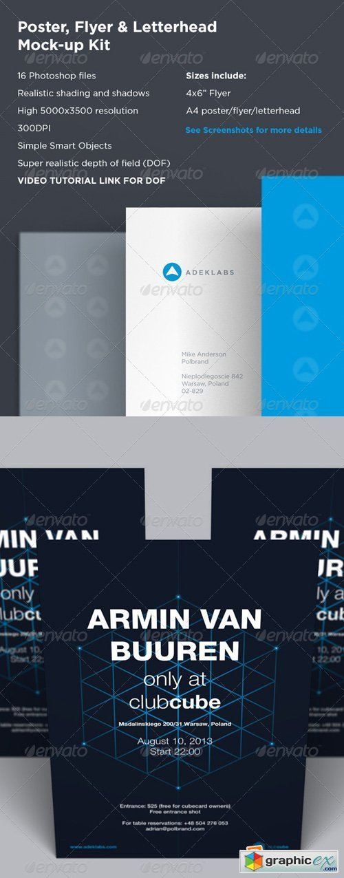 Poster / Flyer & Letterhead Mock-up Kit