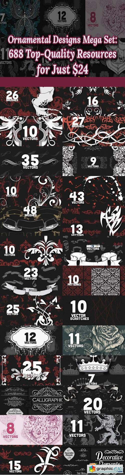 Designious - Ornamental Designs Mega Set