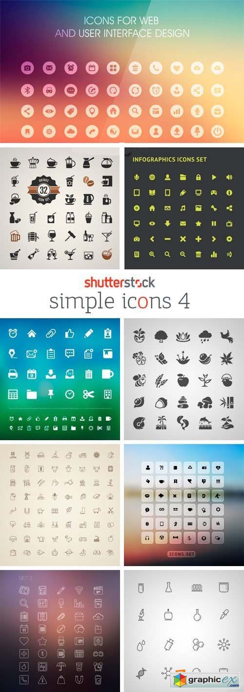 Amazing SS - Simple Icons 4, 25xEPS